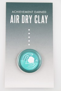 Air Dry Clay Badge