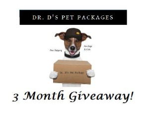 Dr D's Pet Packages 3 Month Giveaway