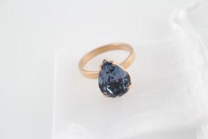 Liz Palacios Teardrop Ring in Denim