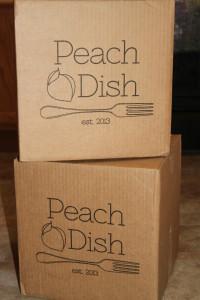 Peach Dish Box