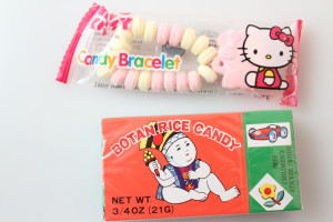 Hello Kitty Candy Bracelet and  Botan Rice Candy