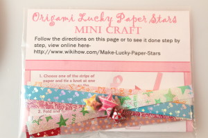Origami Lucky Paper Stars Mini Craft