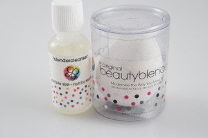 Beauty Blender and cleanser