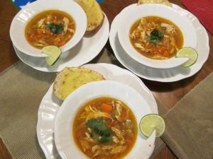 Cheesy Ciabatta Bread Chicken and Wild & Rice Soup
