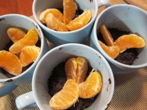 Chocolate Mug Cake & Clementines