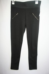 Blu Pepper Black Zipper Pocket Legging