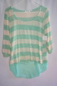 Blu Pepper Mint Stripe Sweater
