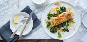 Miso Ginger Crusted Pollock with Chinese Broccoli