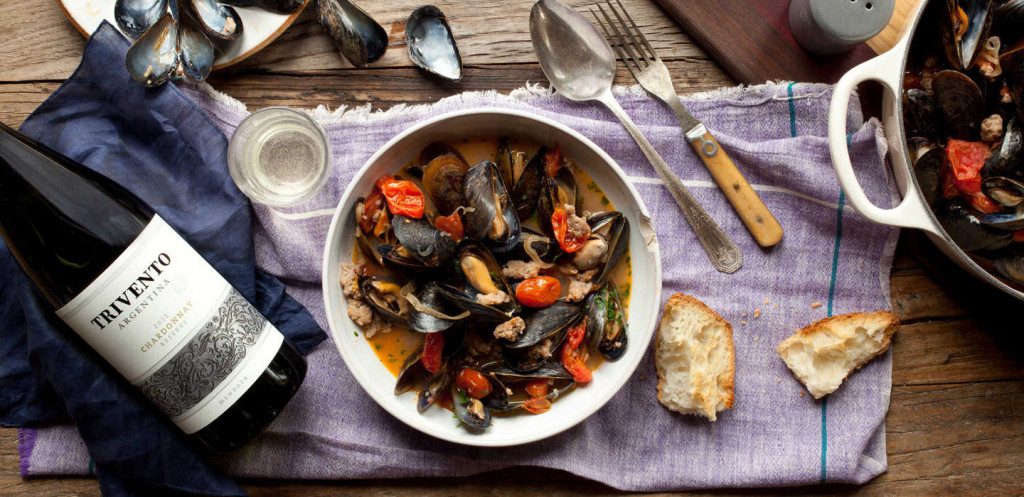 Mussels with Turkey Sausage