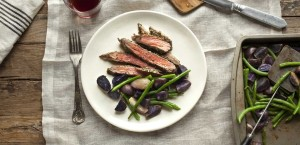Provencal Steak with Purple Potatoes and Green Beans