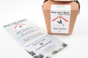 Dog and Bone doggie treatery Apple Cinnamon 4oz