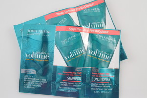 John Frieda touchable full for colour treated hair shampoo and conditioner
