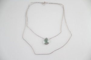 Lucas Jack River Drop Layers Necklace in Silver