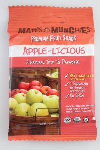 Matt's Munchies Premium Fruit Snack, Apple-licious
