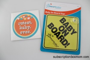 Cutest Baby Ever Sticker and Baby on Board Sign