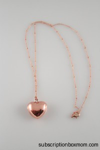 Plated Long Heart Necklace