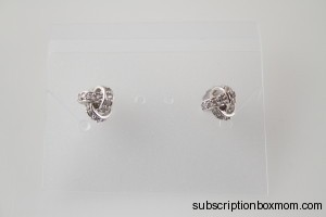 Urban Gem Silver Knot Earrings