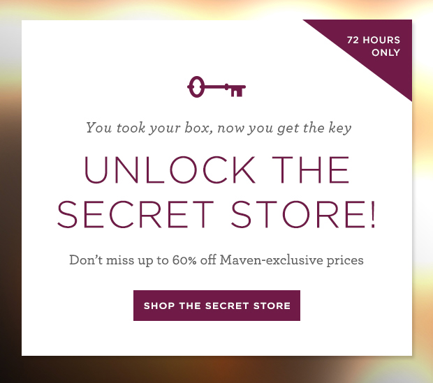 January Secret Store is open