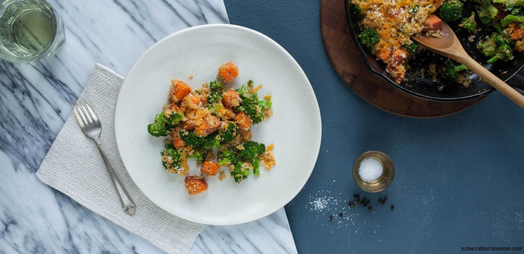 Broccoli, Sweet Potato, and Quinoa Casserole