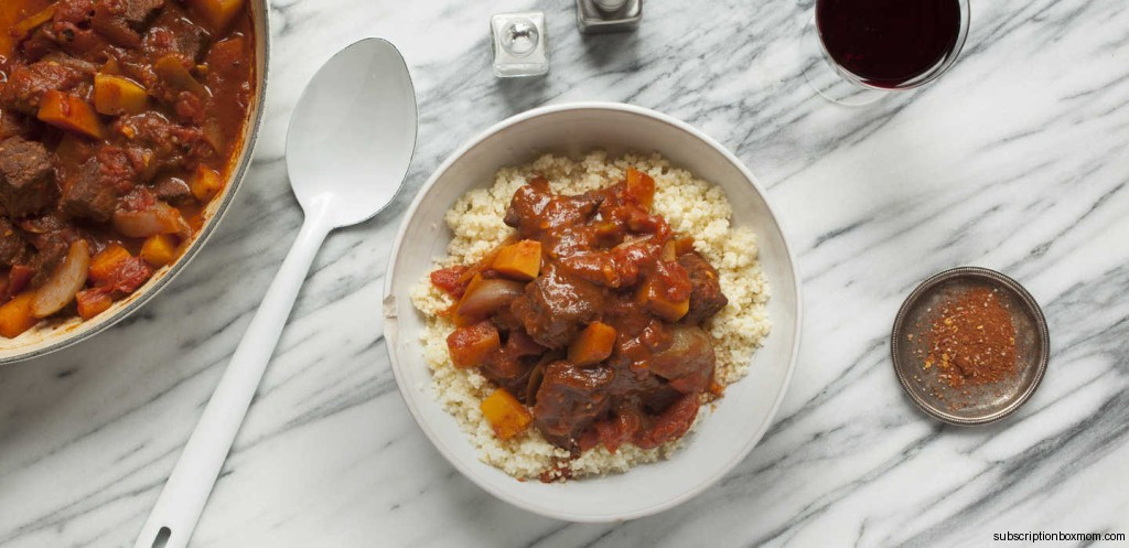Moroccan Beef Tagine with Squash and Couscous