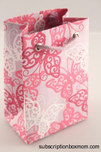 Small Lilac Butterfly Gift Bag
