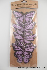 Lilac Butterfly Garland