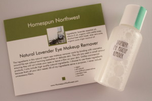 Homespun Northwest Natural Lavender Eye Makeup Remover