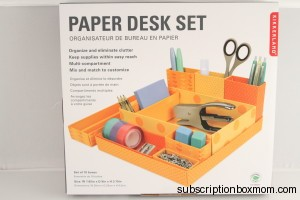 Kikkerland Paper Desk Set