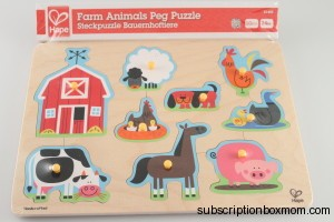 Hape Farrn Animals Peg Puzzle