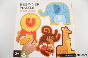 Petit Collage Beginner Puzzle Safari Babies