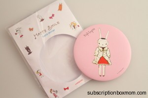 Fifi Lapin Small Flat Round Hand Mirror - Japan