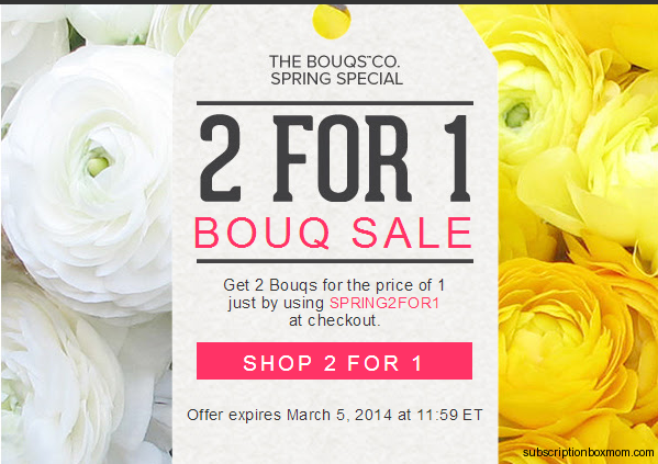Bouqs 2 for 1 sale