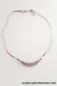 Silver Overlapping Leaves Necklace-Korea