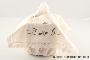 Handmade Embroidered Tissue Box Cover-Japan