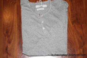 Heather Gray Short Sleeve with buttons and pocket