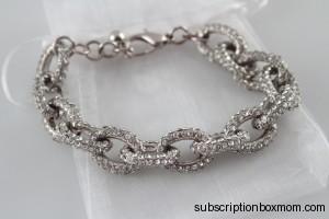 Urban Gem Bling On Bracelet in Silver