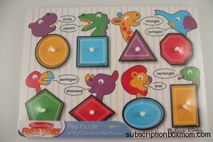 Melissa And Doug - See Inside Peg Puzzle