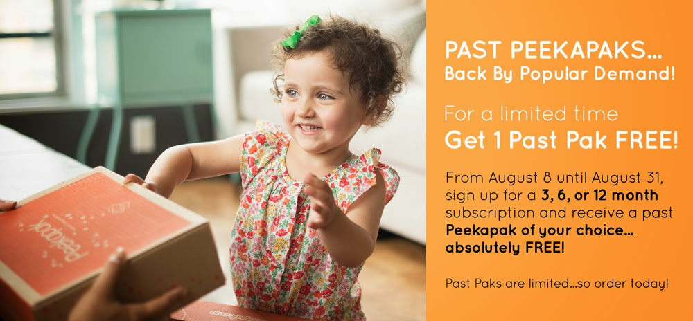Peekapak Free Box Sale with Subscription