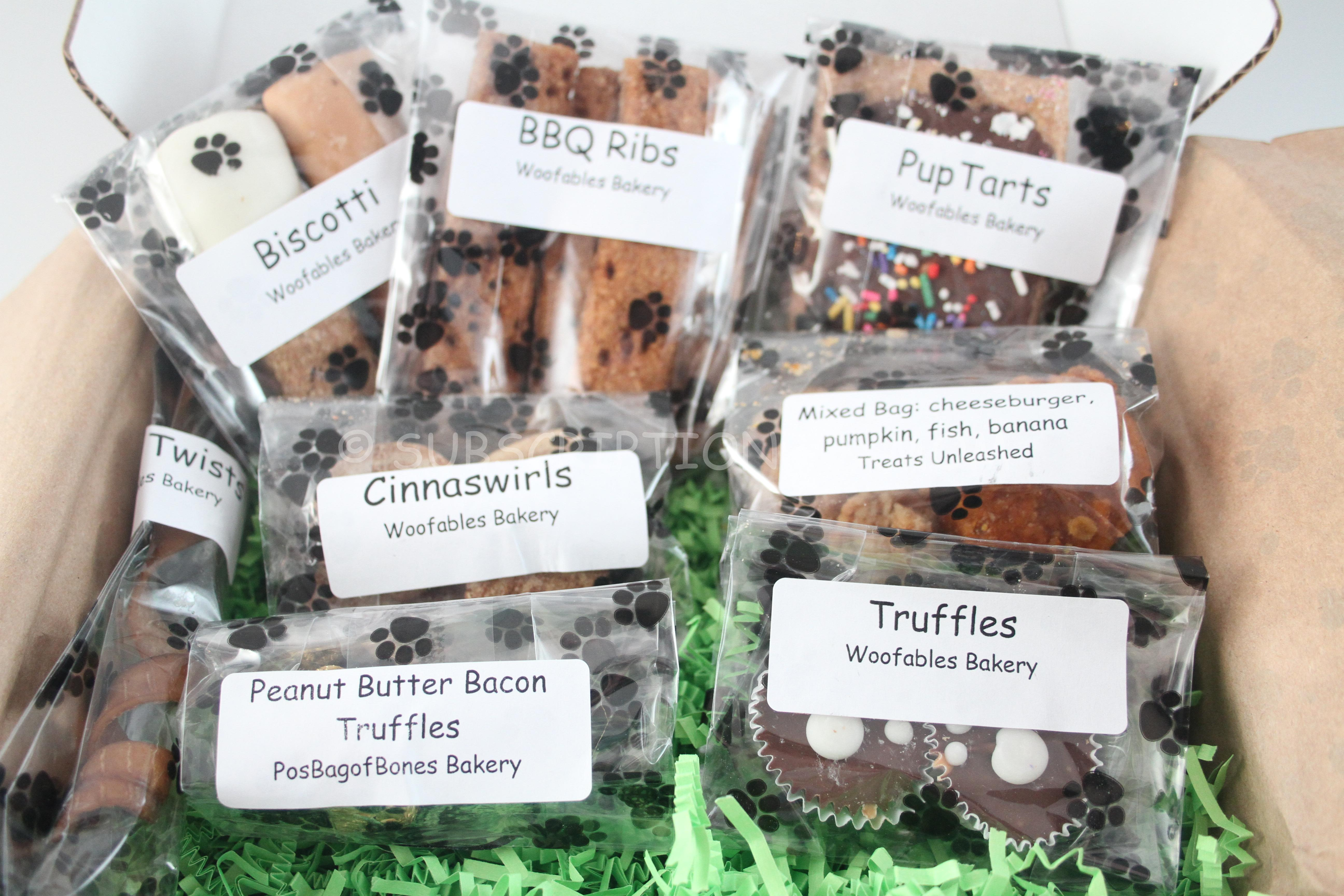 Woof Crate August 2014 Review Dog Treat Subscription Box
