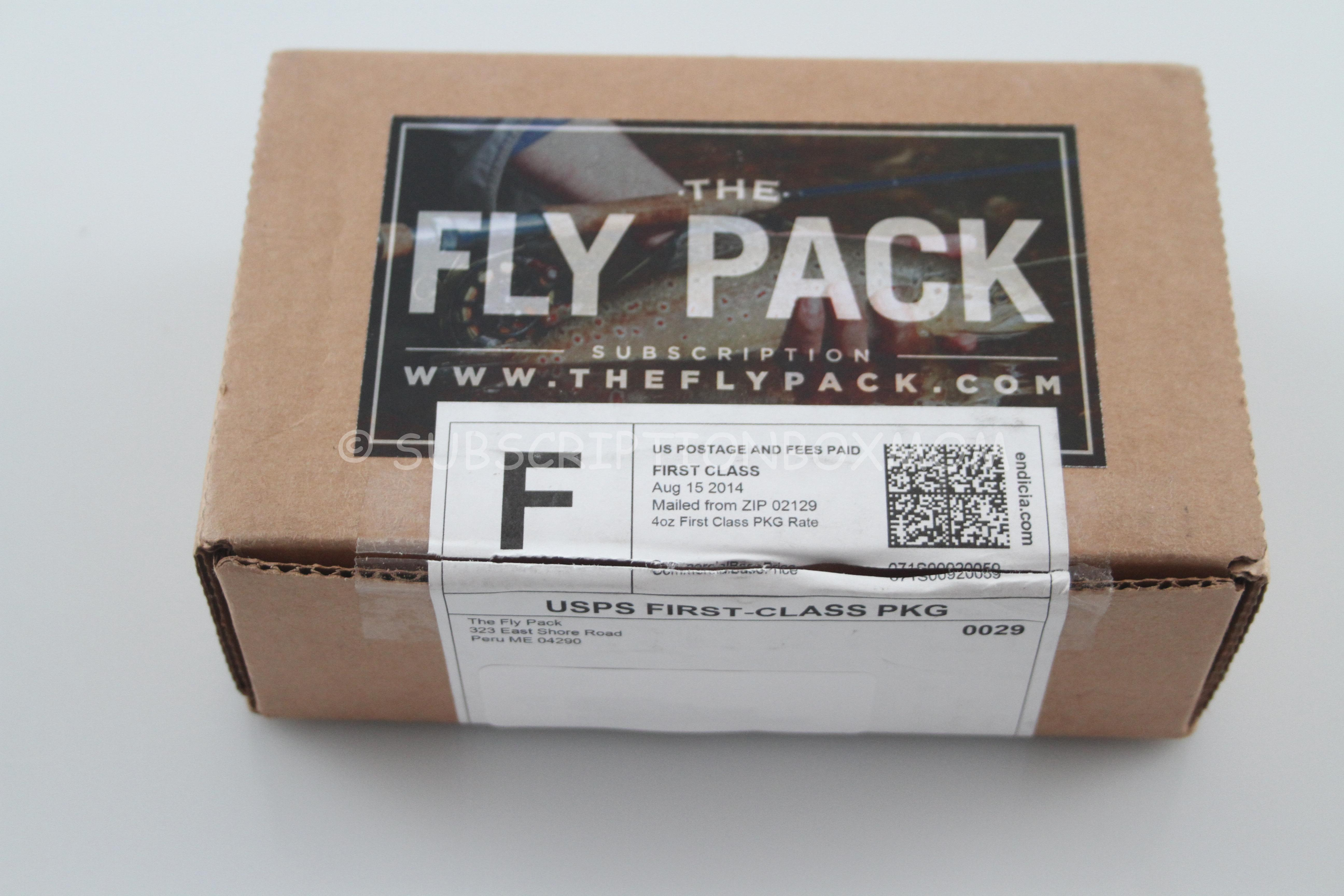 The fly pack august 2014 coupon fishing subscription for Monthly fishing subscription boxes