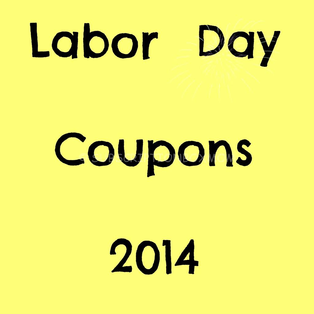 Labor Day 2014 Subscription Box Coupons