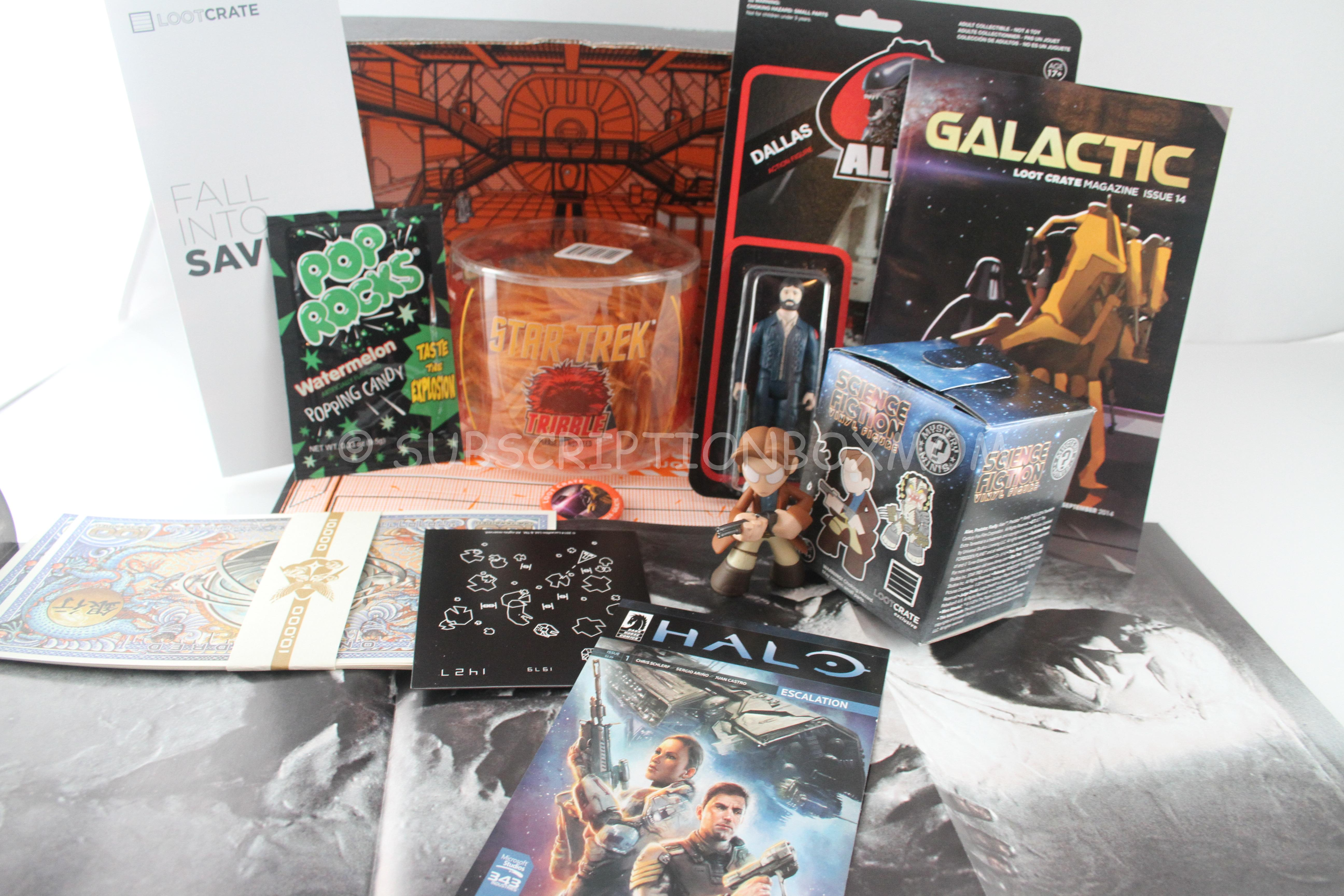 loot crate september 2014 review coupon subscription box mom