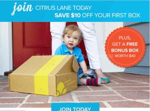 Citrus Lane $50.00 Deal