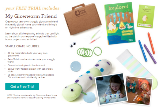 Free Kiwi Crate Trial - My Glowworm Friend + Exclusive Coupon