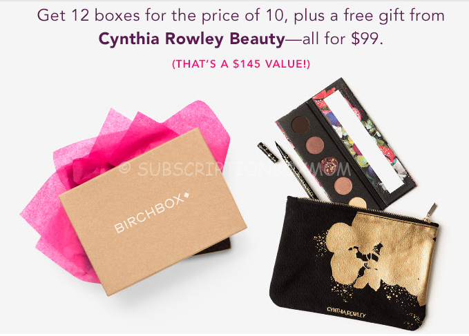 Birchbox Year Subscription Deal