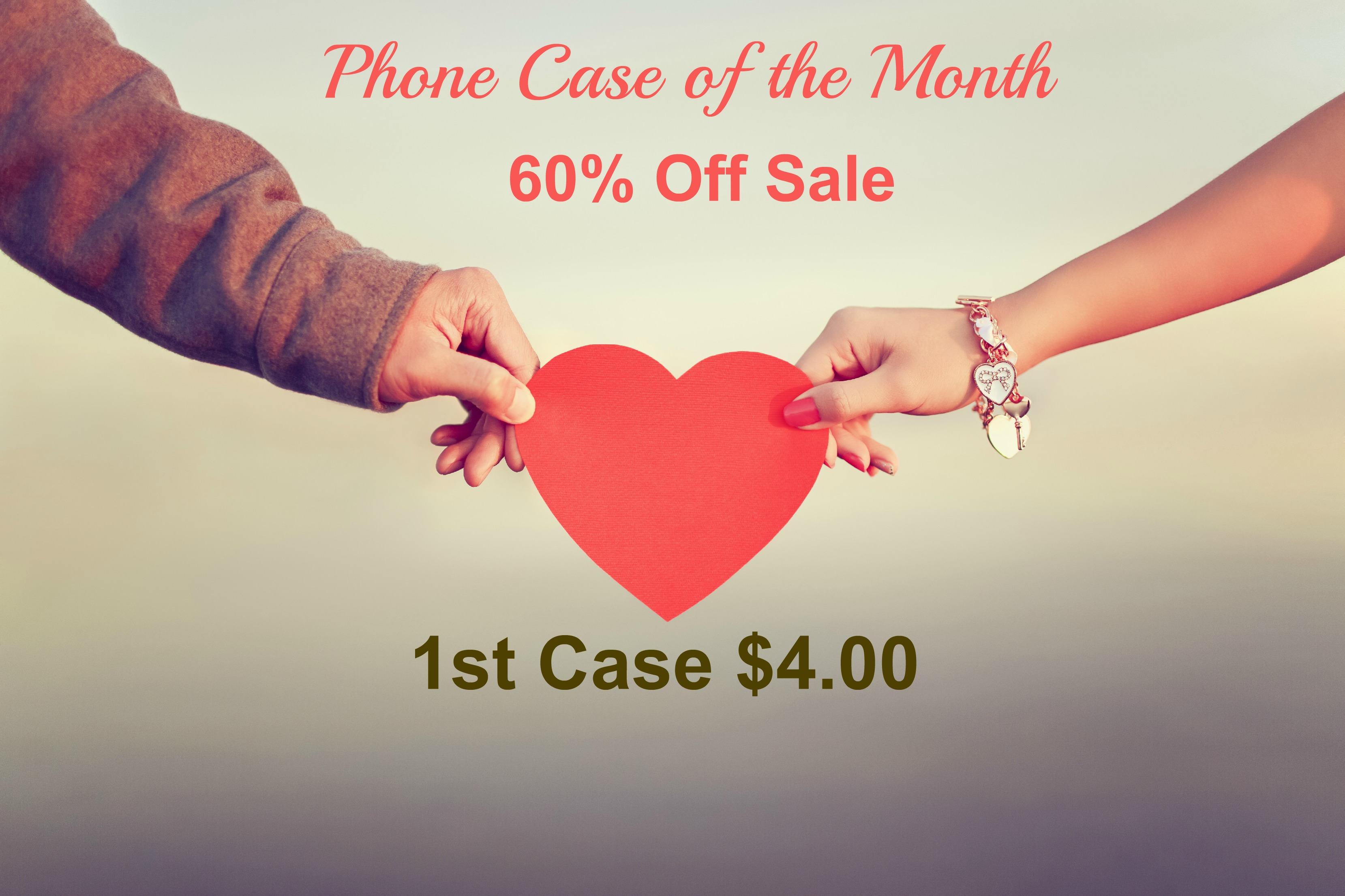 Phone Case of the Month President's Day Coupon - 1st Case $4.00