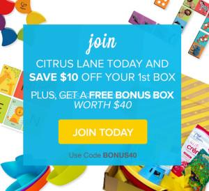 LAST DAY Citrus Lane Free Box Deal