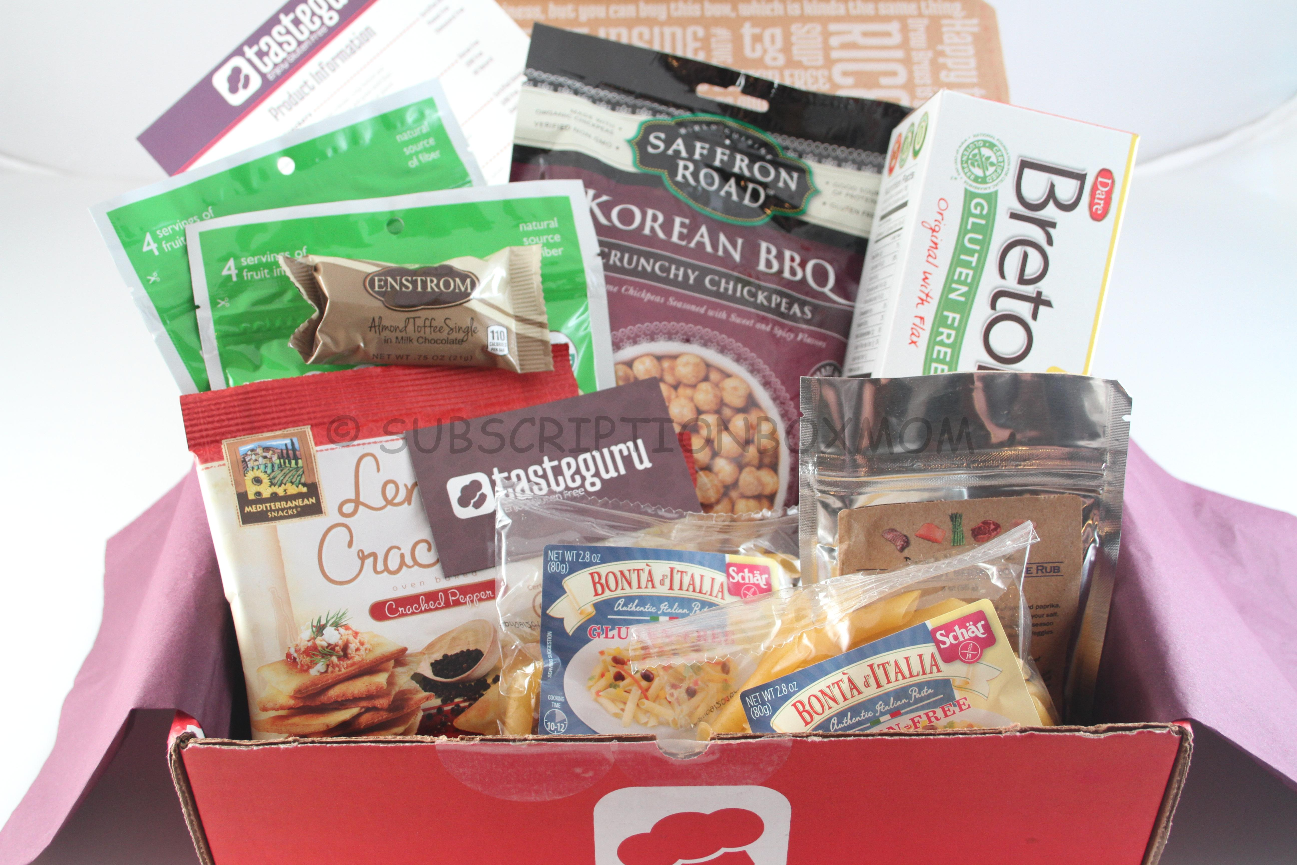Taste guru october 2014 review bonus gifts gluten free box guru magnet and a enstrom almond toffee milk chocolate bar thrown as bonus items i dont love toffee so i will give this to my mom who will lvoe it negle Choice Image