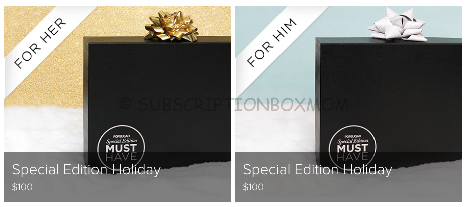 Popsugar Must Have Special Edition Holiday Boxes 2014