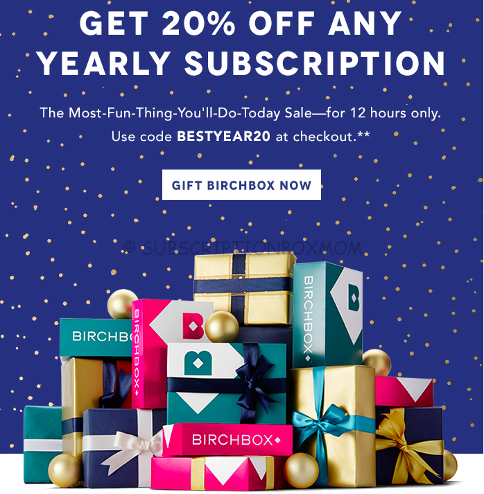 Birchbox 20% Off Yearly Subscription Coupon